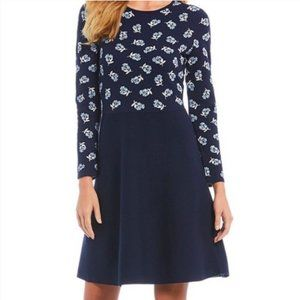 Draper James | Floral Long Sleeve Sweater Dress
